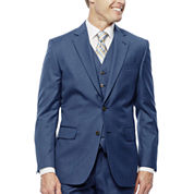 Stafford® Travel Medium Blue Suit Jacket - Slim Fit