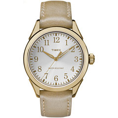 Timex Womens Gold Tone Strap Watch-TW2P99300JT