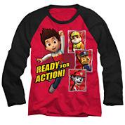 Paw Patrol Long-Sleeve Raglan T-Shirt - Preschool 4-7