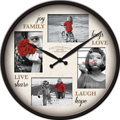 FirsTime® Moments Frame Wall Clock