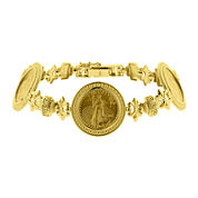 14K Yellow Gold 1/10 oz. Liberty Dollar Coin Bracelet