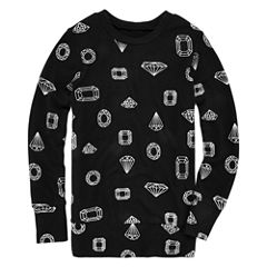Total Girl® Foil-Accented Sweatshirt - Girls 7-16 and Plus