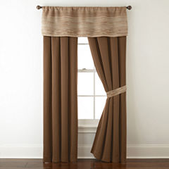 Studio™ Rhythm 2-Pack Rod-Pocket/Back-Tab Lined Curtain Panels