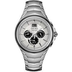 Seiko Coutura Chronograph Mens Silver Tone Bracelet Watch-Ssc627