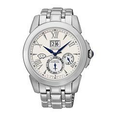 Seiko® Le Grand Sport Mens Silver-Tone Chronograph Watch SNP065