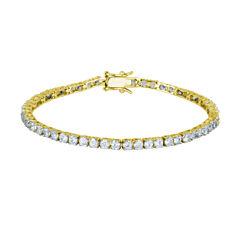DiamonArt® 18K Yellow Gold over Silver CZ Tennis Bracelet