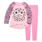 Critter 2-pc. Pajama Set - Preschool Girls 4-6X