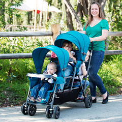 Joovy Big Caboose Graphite Stand-On Triple Stroller