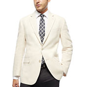 Stafford® Bone Herringbone Linen-Cotton Sport Coat - Classic Fit