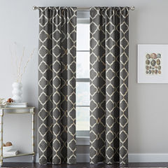Casbah Trellis Rod-Pocket Curtain Panel