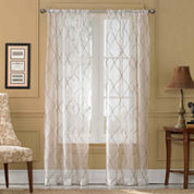 Menza Rod-Pocket Sheer Curtain Panel