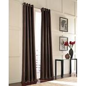Messina Velvet Grommet-Top Curtain Panel