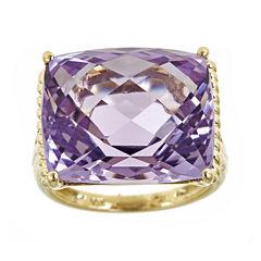 LIMITED QUANTITIES  Cushion-Cut Genuine Pink Amethyst Ring