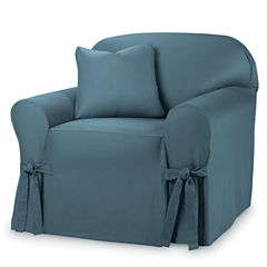 SURE FIT® Cotton Duck 1-pc. Chair Slipcover