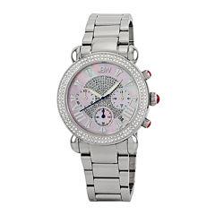 JBW Victory Womens Diamond-Accent Stainless Steel Bracelet Watch JB-6210-160-C