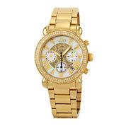 JBW Victory Womens Diamond-Accent Gold-Tone Stainless Steel Bracelet Watch JB-6210-160-I