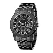 JBW Krypton Mens 1/3 CT. T.W. Diamond Black Stainless Steel Watch JB-6219-L