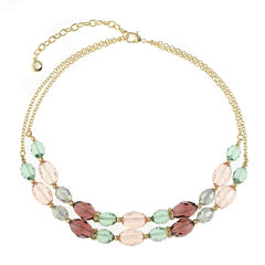 Gloria Vanderbilt Womens Multi Color Collar Necklace