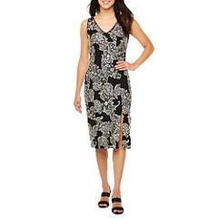 Ronni Nicole Sleeveless Brocade Sheath Dress