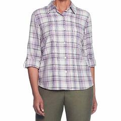 Alfred Dunner Palm Desert Woven Shirt