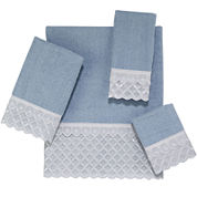 Avanti Eyelet Scallop Bath Towels