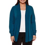 Worthington® Long-Sleeve Essential Cardigan - Plus