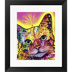Tilt Cat Framed Print Wall Art
