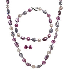 Blossom 3-Pc. Freshwater Pearl Jewelry Set