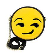 Olivia Miller Unamused Emoji Crossbody Bag