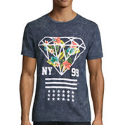 Urban Nation Short-Sleeve Stripe Diamond Tee