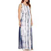 Planet Motherhood Maternity Sleeveless Self-Tie Maxi Dress