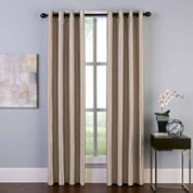 Malta Faux Silk Grommet-Top Curtain Panel