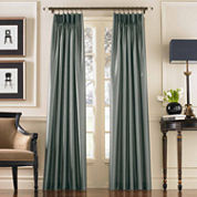 Marquee Faux Silk Pinch-Pleat Back-TabCurtain Panel