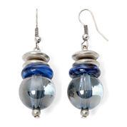 Aris by Treska Birmingham Blue Bead Silver-Tone Drop Earrings
