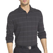 Van Heusen Long Sleeve Solid Cotton Polo Shirt