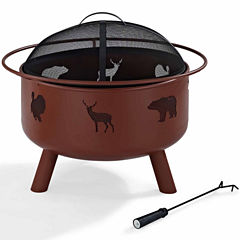 Durango Wildlife Fire Pit in Clay