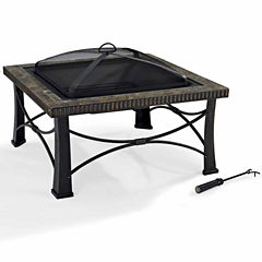 Firestone Square Slate Fire Pit in Black