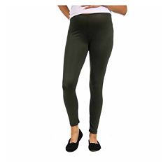 24/7 Comfort Apparel Solid Knit Leggings-Plus Maternity