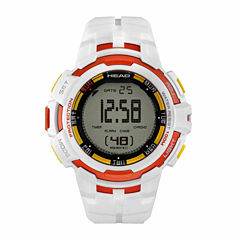 Head Super G Mens White Strap Watch-He-104-01
