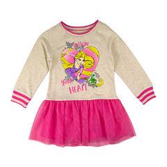 Disney by Okie Dokie Short Sleeve Rapunzel A-Line Dress - Toddler Girls