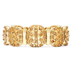 Monet® Topaz-Colored Gold-Tone Stretch Bracelet