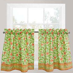 Park B. Smith® Boutique Flowers Rod-Pocket Window Tiers