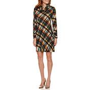 R&K Originals® Long-Sleeve Cowlneck Shift Dress - Petite