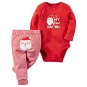 Carter's Unisex 2-pc. Long Sleeve Pant Set-Baby