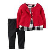Carter's Girls 3-pc. Long Sleeve Pant Set-Baby