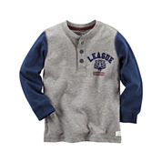 Carter's Long Sleeve Henley Shirt - Preschool Boys