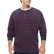 The Foundry Big & Tall Supply Co.™ Long-Sleeve Waffle Stripe Henley Shirt