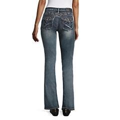 Sound Girl Yoke Stitch Bootcut Jeans - Juniors
