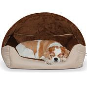K & H Manufacturing Thermo-Hooded Lounger Pet Bed