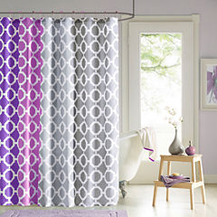 90° by Design Lab Dani Shower Curtain and Hook Set
